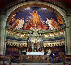 Roma - Basilica dei Santi Cosma e Damiano - Mosaico absidale, 530