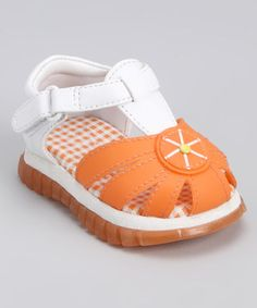 Take a look at this Orange Fruity Sandal by Modit on #zulily today!