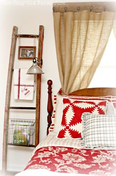 Love the ladder beside the bed..not sure how it would look IRL...I just need to try!!!