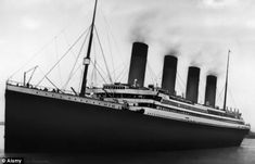 Titanic pictured as she left Southampton, England in April 1912 on her doomed maiden voyage.