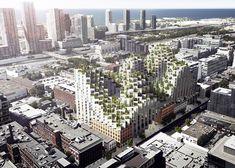 Habitat 2.0, BIG, Bjark Ingels, Bjark Ingels Group, Westbank, Moshe Sadie, Habitat 67, Toronto, mountain-like architecture, ziggurat architecture, mountain-like building, mixed use development,