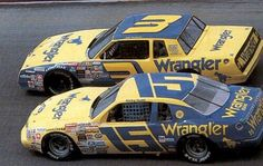 Dale Earnhardt and Ricky Rudd vintage NASCAR