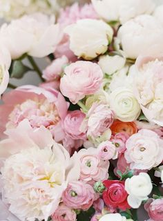 Pink peonies and ranunculus: http://www.stylemepretty.com/2015/09/04/pink-sonoma-vineyard-wedding/ | Photography: Clary Pfeiffer - http://claryphoto.com/: