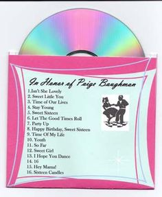Homemade Sweet Sixteen Invitations CDs | Make your own Invitation