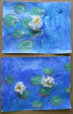 63 ideas for monet art projects for kids little ones Kindergarten Art, Preschool Art, Spring Art, Summer Art, Classe D'art, 5th Grade Art, Ecole Art, Claude Monet, School Art Projects