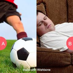 Are you sporty or lazy? Click here to vote @ http://getwishboneapp.com/share/12322322