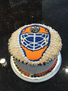 Oilers cake Canadian Pinterest Cake Birthday cakes and Food