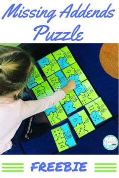 Practice part-part-whole relationships and missing addends with this fun math puzzle. This freebie is perfect for math center time! First Grade Freebies, First Grade Activities, 1st Grade Math, Math Activities, Second Grade, Grade 2, Math Classroom, Kindergarten Math, Teaching Math