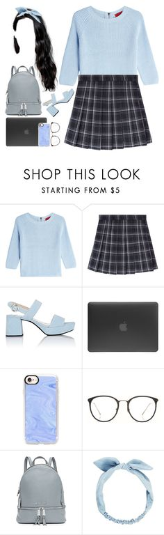 """""""{Everything is Blue}{Everything is Grey}^"""" by myo-my ❤ liked on Polyvore featuring HUGO, Prada, Incase, Casetify, Linda Farrow and MICHAEL Michael Kors"""