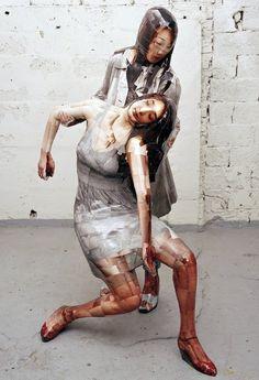 Sculpture & Photography - Korean artist Gwon Osang makes sculptures from hundreds of photos plastered to mannequins Photo Sculpture, Sculpture Painting, Modern Sculpture, Abstract Sculpture, 3d Photo, Photo Art, Mannequin Art, Photo Projects, Class Projects
