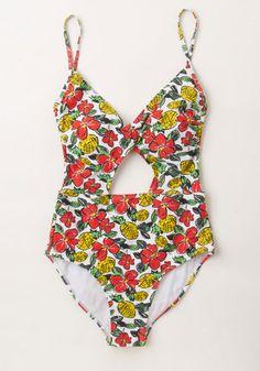 Pineapple Finesse One-Piece Swimsuit | Mod Retro Vintage Bathing Suits | ModCloth.com
