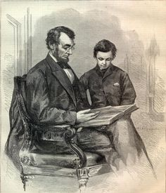 Civil War Harper's Weekly, May 6, 1865:   The May 6, 1865 Edition of Harper's Weekly includes a touching portrait of President  Abraham Lincoln, and his son Tad.