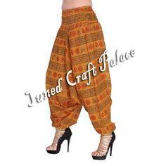 Indian Gypsy Baggy Hippie Women Aladdin Boho Trousers Casual Harem Cotton Pants  #Junedcraftpalace #Harem