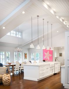 Kitchen Living Rooms Remodeling Vaulted ceilings, white wood finishes, and an abundance of natural light in this Colorado ranch remodel prove a one-story home can still feel expansive. Ranch Remodel, Home, Home Kitchens, House Design, Sweet Home, Vaulted Ceiling Lighting, Home Remodeling, Kitchen Living, Ranch House