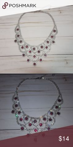 Charming Charlie Big Statement Necklace This is GORGEOUS with a strapless dress! Perfect for those Marine Corps balls! Willing to bundle, I have a ton of other jewelry posted! Charming Charlie Jewelry Necklaces