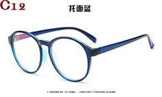 9429b8706 Retro round reading eye glasses frame men women vintage computer myopia  eyeglasses frame plain glasses oculos