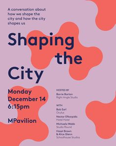 Join us this Monday at @MPavilion for a conversation with Michaela from @studio_round, Bob Earl aka @boboculus, Hazel and Alice from @schoolhouse_studios, and Nectar from @hotel_hotel about how we shape the city and how the city shapes us. Kick off at 6:15pm and the talk will go for approximately 45 minutes. No need to RSVP or book, just show up. Weather is looking good. #thoughtswordsdeeds #MPavilion #MTalk #shapingthecity #wheretofromhere #melbourne