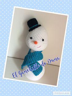 Muñeco de nieve/Snowman #crochet #ganchillo