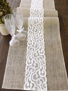 Burlap table runner burlap and