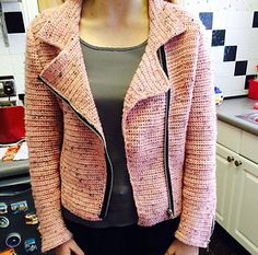 Whether you're a rebel without a cause or just keen to take on a new crochet challenge, this stunning biker jacket puts a crafty twist on a classic and is a great project to get your teeth into.