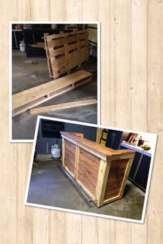 My first pallet project!! Bar built from pallets.