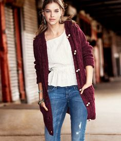 Get ready for fall with this plush cardigan from H.