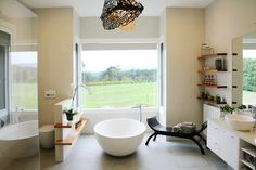 12 Aesthetically Pleasing Wooden Shelves In The Bathroom - Modern Healthy Life
