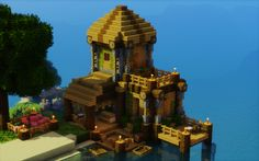 The Villager's Getaway - minecraft Minecraft Houses Blueprints, Minecraft Plans, Minecraft City, Minecraft House Designs, Minecraft Construction, Minecraft Survival, Minecraft Tutorial, Cool Minecraft, How To Play Minecraft