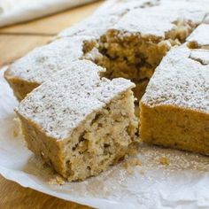 One-Bowl Applesauce Walnut Cake. This simple applesauce cake with golden raisins and crunchy toasted walnuts is moist tender and lightly spiced. Cake Recipes, Dessert Recipes, Desserts, Applesauce Cake Recipe, Canned Frosting, Healthy Afternoon Snacks, Walnut Cake, Easy Snacks, Healthy Treats