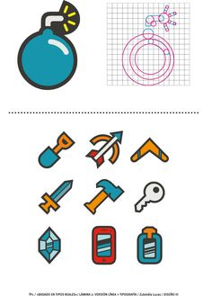 """Diseño de Iconos para combinar con tipografías"" Alumno: Lucas Zubeldía Profesor: Armando Olinhaus"
