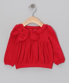 Red Bow Blouse - Infant, Toddler & Girls