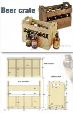 Beer Crate Plans - Woodworking Plans and Projects | http://WoodArchivist.com