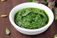 Rocket Basil Pesto Recipe - Paleo, Primal, gluten free   Eat Drink Paleo