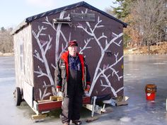 Our Ice-Fishing Guide Ron Wilder in Rice Lake, WI