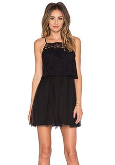 BCBGeneration Lace Mini Dress in Black | REVOLVE