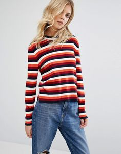 Get this Whistles's knit pullover now! Click for more details. Worldwide shipping. Whistles Multi Stripe Knitted Jumper - Multi: Jumper by Whistles, Lightweight fine knit, Soft-touch wool mix, Crew neck, Long sleeves, Side splits, Regular fit - true to size, Hand wash, 50% Cotton, 50% Wool, Our model wears a UK 8/EU 36/US 4. With a focus on beautiful cuts, premium fabrics and cutting-edge design, Whistles create timeless pieces with a directional edge. Whistles channel an effortlessly chic…