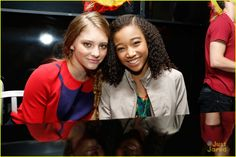 Comic Con 2012: Amandla Stenberg & Willow Shields at 'The Hunger Games' cast signing.