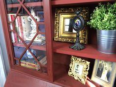 Secretary Desk Makeover — Painted in Annie Sloan Primer Red. Vintage Refined