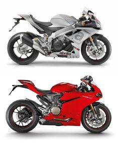 Aprilia RSV4 RR vs Ducati 1299 Panigale S 2015