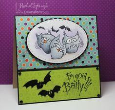 Stampendous Batty Halloween Card