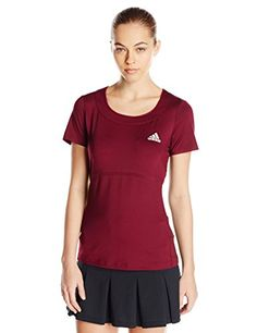 adidas Performance Womens All Premium Tee Small Red >>> You can find more details by visiting the image link.
