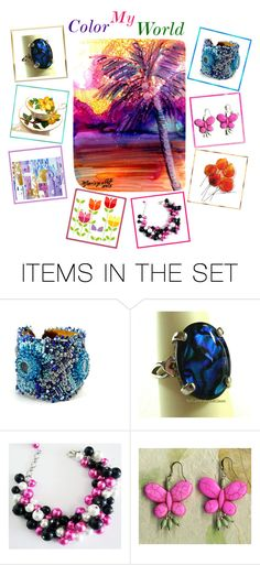 """""""Color My World!"""" by glassdreamshawaii ❤ liked on Polyvore featuring art"""
