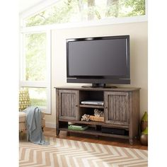 "60"" TV Console in Weathered Grey   Nebraska Furniture Mart"