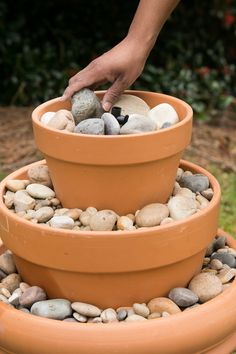 Outdoor Water Fountain: Fill with Stones