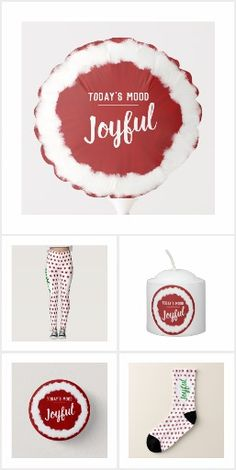 The classical red and white combination, with a touch of green, but in a modern design for your Christmas spirit and decorations. Todays Mood, Joyful, Red And White, Christmas, Collection, Decor, Yule, Dekoration, Decoration