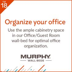 Our Office/Guest Room Combo wall-bed is the perfect office furniture piece as it provides plenty of storage space for all of your office supplies.