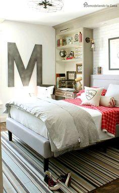 Teen Boy Bedroom Makeover  Built Ins, Lighting,industrial Decor Idea    Vintage