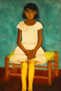 'Portrait of girl' (unfinished), 1929 - Frida Kahlo