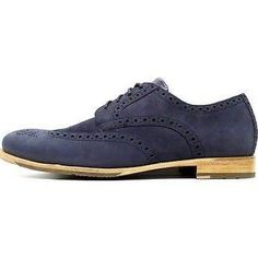 Rockport Shoes V76013 Dress Casual Castleton Wingtip Navy Nuckbuck