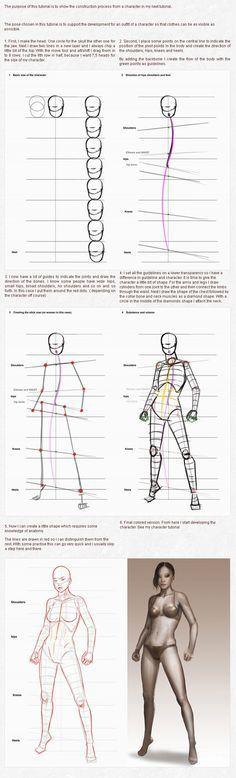 Character creation part 1 construction by PascaldeJong on deviantART via PinCG.com